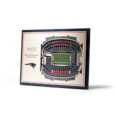 NFL New England Patriots StadiumViews 3-D Wall Art - Gillette Stadium