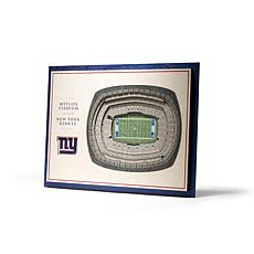 NFL New York Giants StadiumViews 3-D Wall Art - MetLife Stadium