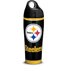NFL Pittsburgh Steelers Touchdown 24 oz Stainless Steel Water Bottl...