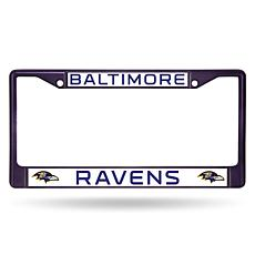 NFL Purple Chrome License Plate Frame - Ravens