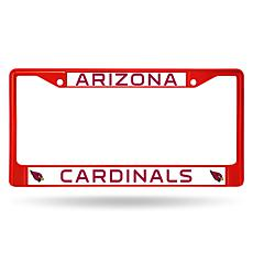 NFL Red Chrome License Plate Frame - Cardinals