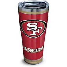NFL San Francisco 49ers Touchdown 30 oz Stainless Steel Tumbler wit...