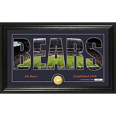 NFL Silhouette Panoramic Bronze Coin Photo Mint - Chicago Bears