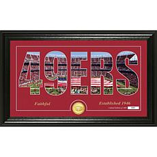 NFL Silhouette Panoramic Bronze Coin Photo Mint - San Francisco 49ers