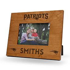 NFL Sparo Personalized Engraved Wood Picture Frame - Patriots