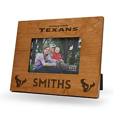 NFL Sparo Personalized Wood Picture Frame - Texans