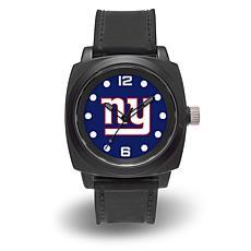 "NFL Sparo Team Logo ""Prompt"" Black Strap Sports Watch - Giants"