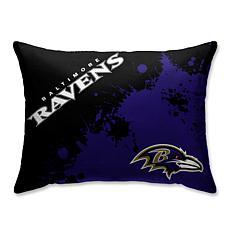 "NFL Splatter Print Plush 20"" x 26"" Bed Pillow - Baltimore Ravens"