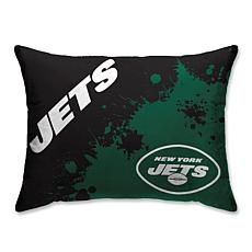 "NFL Splatter Print Plush 20"" x 26"" Bed Pillow - New York Jets"