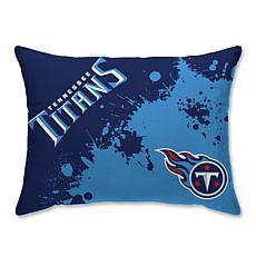 "NFL Splatter Print Plush 20"" x 26"" Bed Pillow - Tennessee Titans"