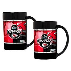 NFL Super Bowl 54 Champs - 2-piece Black Mug Set - Chiefs