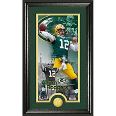"""NFL """"Supreme"""" Bronze Coin Panoramic Photo-Aaron Rodgers"""