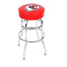 "NFL Team Logo Double-Ring 30"" Swivel Bar Stool - Chiefs"