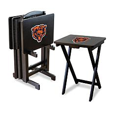 NFL Team Logo Set of 4 TV Trays with Stand - Bears