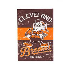 NFL Vintage Linen Garden Flag - Browns
