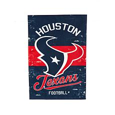 NFL Vintage Linen Garden Flag - Texans
