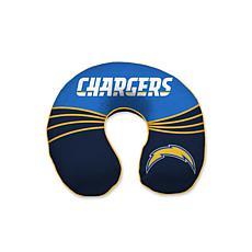 NFL Wave Memory Foam U-neck Travel Pillow - LA Chargers