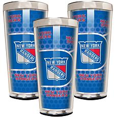 NHL Acrylic & Stainless Steel 3-piece Shot Glass Set -