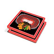 NHL Chicago Blackhawks 3-D Stadium Views Coaster Set
