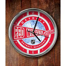 NHL Chrome Clock - Red Wings