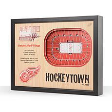 NHL Detroit Red Wings 25-Layer 3-D Wall Art - Joe Louis Arena