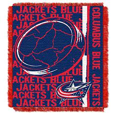 NHL Double Play Woven Throw - Columbus Blue Jackets