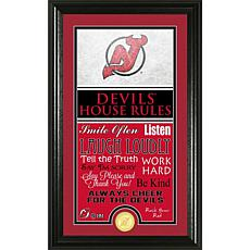 NHL House Rules Supreme Bronze Coin Photo Mint - New Jersey Devils