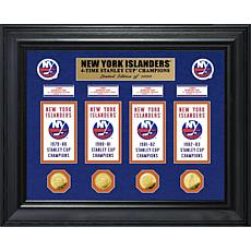 NHL Islanders 4-Time Stanley Cup Champs Deluxe Banner