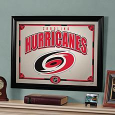 "NHL Team 23"" x 18"" Framed Mirror - Carolina Hurricanes"
