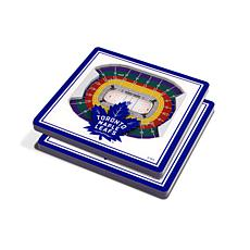 NHL Toronto Maple Leafs 3-D Stadium Views Coaster Set