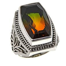 Nicky Butler 10.7ctw Bi-Color Pink-Green Quartz Triplet Ring