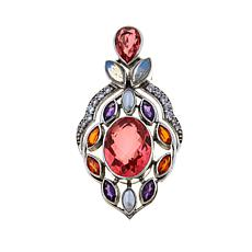 Nicky Butler 12.12ctw Watermelon Quartz and Gem Pendant