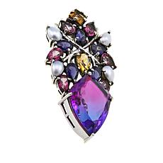 Nicky Butler 16.85ctw Purple Haze Quartz Triplet and Gem Pendant