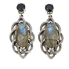 Nicky Butler 2 30ctw Black Spinel And Labradorite Woven Earrings