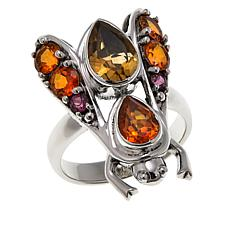 "Nicky Butler 3ctw Citrine, Honey Topaz and Rhodolite ""Bee"" Ring"