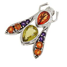 Nicky Butler 9.6ctw Orange Quartz and Multigemstone Bee Pin/Pendant
