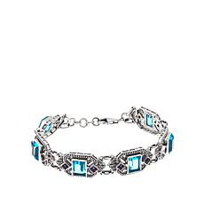 Nicky Butler Aqua Quartz Triplet and Gem Bracelet