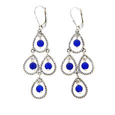 Nicky Butler Blue Quartzite Bead Sterling Silver Chandelier Earrings