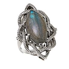 Nicky Butler Labradorite Sterling Silver Woven Ring