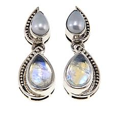 Nicky Butler Moonstone and Gemstone Pear Earrings