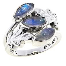 Nicky Butler Moonstone Sterling Silver Leaf Ring