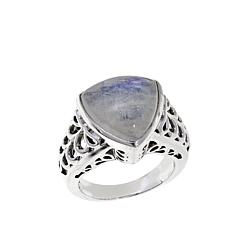 Nicky Butler Moonstone Triangular Solitaire Ring