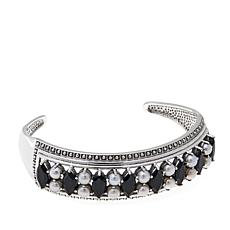 Nicky Butler Onyx and Cultured Pearl Cuff Bracelet