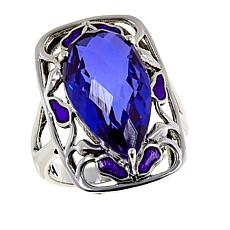 Nicky Butler Purple Quartz Triplet and Enamel Ring