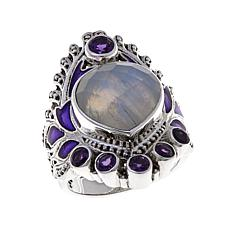 Nicky Butler Raj Gemstone Sterling Silver Enamel Ring