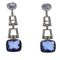 Nicky Butler Violet Blue Quartz and Moonstone Earrings
