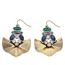 "Nicole Romano ""Tilley"" Multi-Stone Fan Earrings"