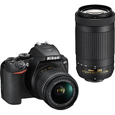Nikon D3500 DSLR Camera with 18-55mm & 70-300mm Lens