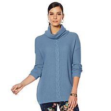 Nina Leonard Braided Stitch Sweater