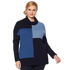 Nina Leonard Colorblock Sweater Tunic
